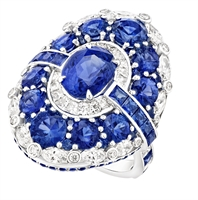 Blue Sapphire and Diamond Ring - Fabergé Aurora Blue Sapphire Ring