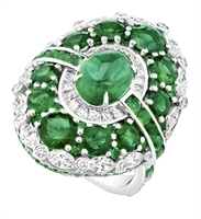 Emerald and Diamond Ring - Fabergé Aurora Emerald Ring
