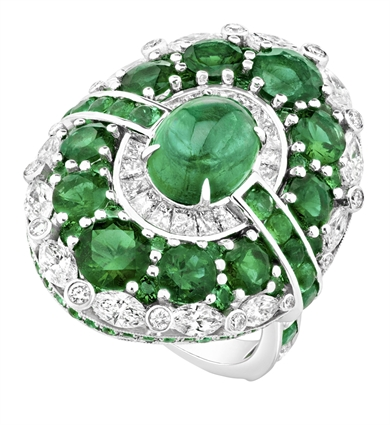 Emerald and Diamond Ring - Fabergé Aurora Emerald Ring