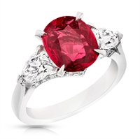 Fabergé Ruby Cushion Cut 3.00ct Ring