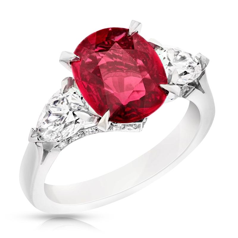 Fabergé Ruby Cushion Cut 3.00ct Ring