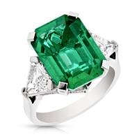 Emerald Step Cut Ring - Fabergé Emerald Step Cut 7.34ct Ring