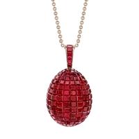 Fabergé Egg Pendant – Mosaic Ruby Pendant