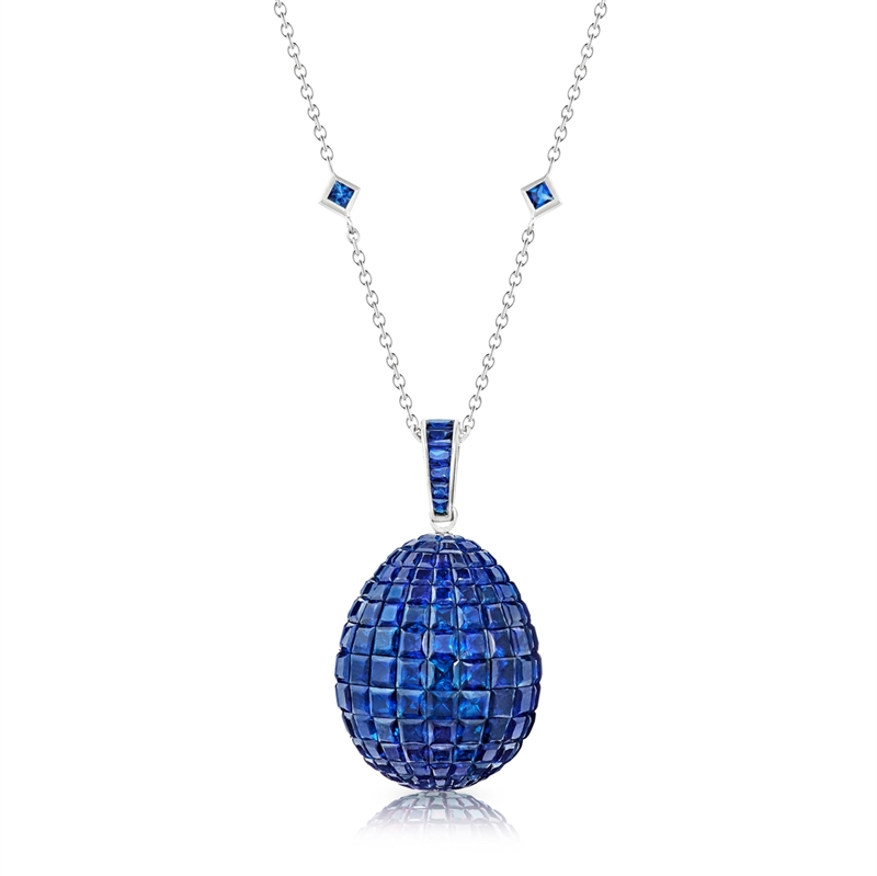 home in sapphire gold pendant diamond and saphire set white