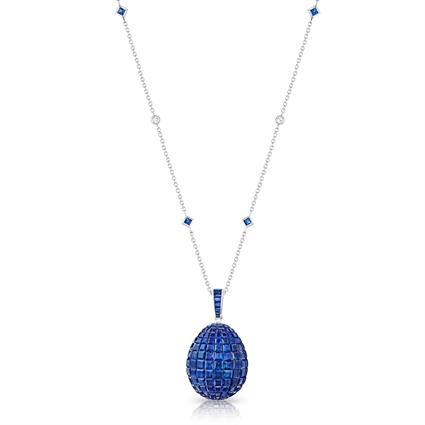 FABERGÉ Egg Pendant - Mosaic Blue Sapphire Pendant