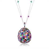 FABERGÉ Egg Pendant - Mosaic Multi-Coloured Pendant