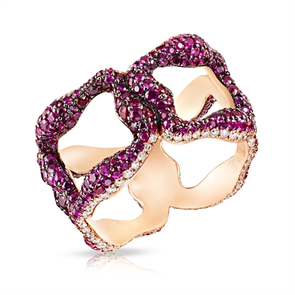 Emotion Gypsy Rose Gold Ruby Ring | Fabergé