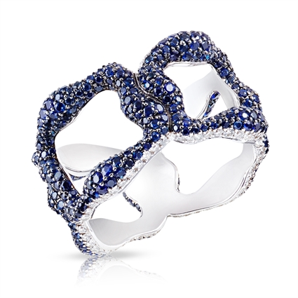 White Gold Blue Sapphire Ring | Fabergé