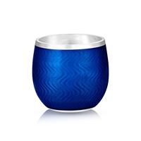 Blue Enamel Shot Glass