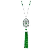 Impératrice Emerald Tassel Pendant