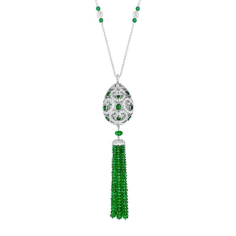 Emerald Pendant Necklace – Fabergé Impératrice Emerald Tassel Pendant
