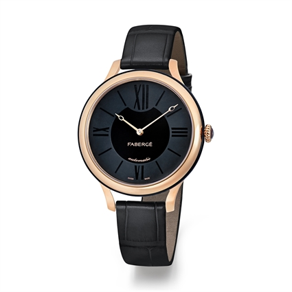 Ladies Watch – Fabergé Flirt 36MM 18 KARAT ROSE GOLD - BLACK DIAL WATCH