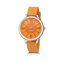 Ladies Watch – LADY FABERGÉ 36MM 18 KARAT WHITE GOLD - ORANGE DIAL WATCH