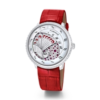 Compliquée Peacock Red Diamond, 18K White Gold & Ruby Ladies Watch
