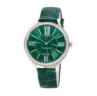 Women's Watch - Lady Fabergé 39mm 18kt White Gold Watch – Enamel Green Dial