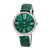 Women's Watch - Fabergé Flirt 39mm 18kt White Gold Watch – Enamel Green Dial