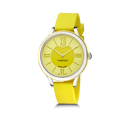 Ladies Watch – Fabergé Flirt 36MM 18 KARAT WHITE GOLD - YELLOW DIAL WATCH