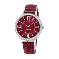 Women's Watch - Lady Fabergé 39mm 18kt White Gold Watch – Enamel Red Dial