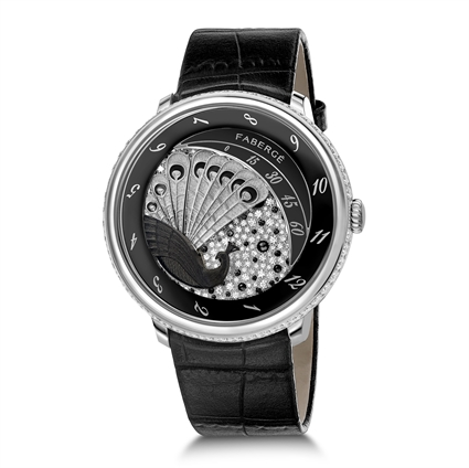 FABERGÉ WATCH – LADY COMPLIQUÉE PEACOCK BLACK SAPPHIRE WATCH