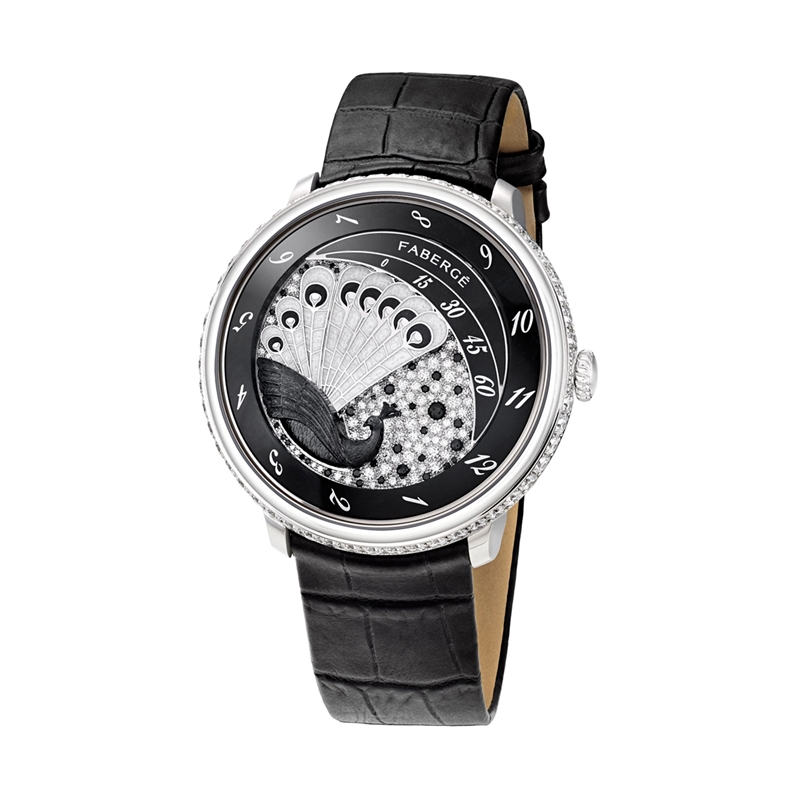 Black Platinum Ladies' Peacock Watch | Fabergé