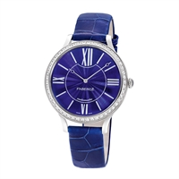 Women's Watch - Fabergé Flirt 39mm 18kt White Gold Watch – Enamel Blue Dial