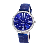 Women's Watch - Lady Fabergé 39mm 18kt White Gold Watch – Enamel Blue Dial