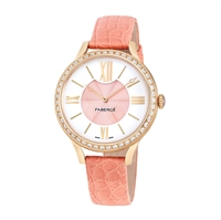 Women's Watch - Lady Fabergé 36mm 18kt Rose Gold Watch – White and Pink Dial