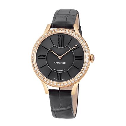 Women's Watch - Fabergé Flirt 36mm 18kt Rose Gold Watch – Anthracite Dial