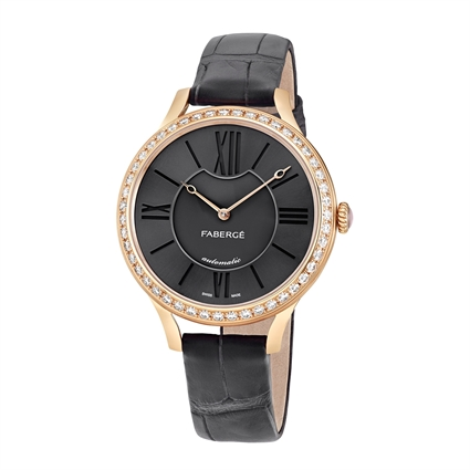 Women's Watch - Fabergé Flirt 36mm 18kt Rose Gold Watch – Anthracite Dial