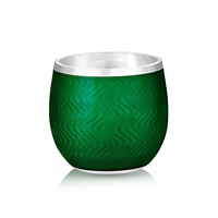 Emerald Green Enamel Shot Glass
