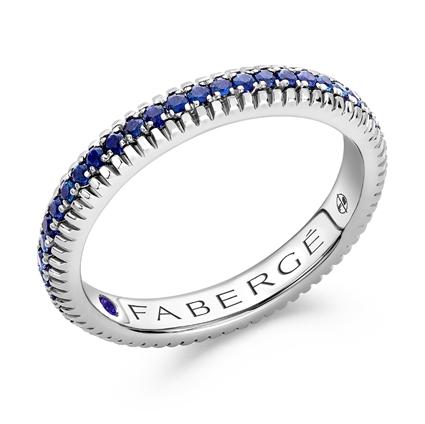 Fabergé Imperial Kokoshnik White Gold Ruby & Diamond Crown Ring I Fabergé
