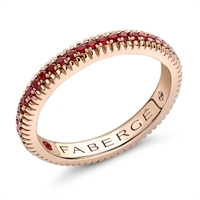 Fabergé Ruby Rose Gold Fluted Band