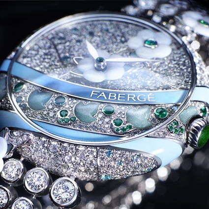 Ladies Watch – Fabergé Summer in Provence Emerald Watch