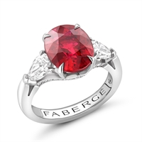 Fabergé Ruby Oval Ring