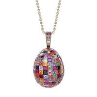 Mosaic Mulit-Coloured Pendant - Fabergé Egg Pendant