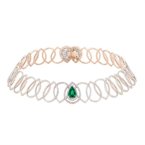 Soleil de Nuit Emerald Necklace