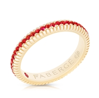 yellow gold ruby ring by faberge