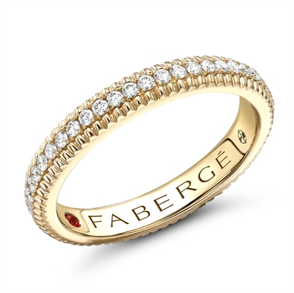 Yellow Gold Diamond Fluted Eternity Ring | Fabergé