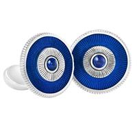 Fabergé Sapphire Blue Enamel Cufflinks
