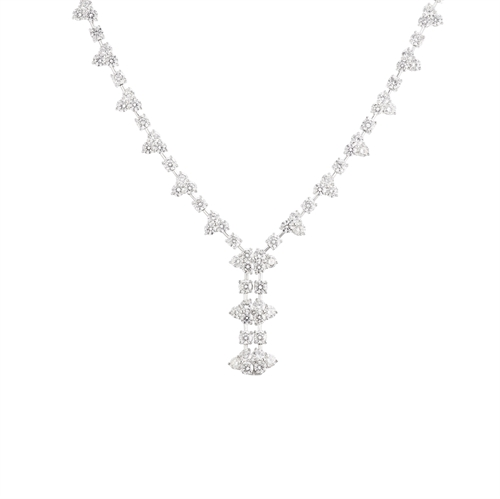 Giselle White Diamond Necklace