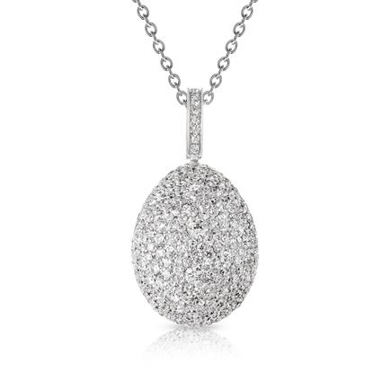 Fabergé Egg Pendant - Emotion White Diamond Pendant