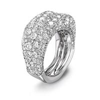 Diamond and White Gold Ring - Fabergé Emotion White Diamond Thin Ring