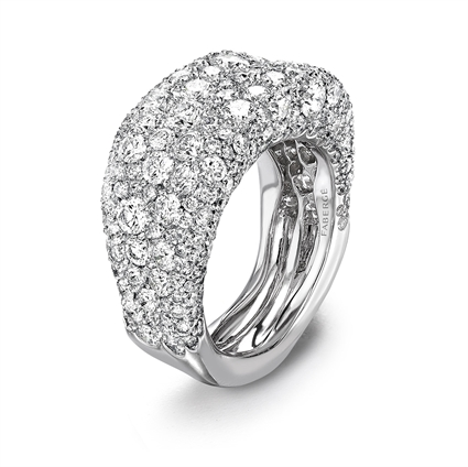 Diamond and White Gold Ring - Fabergé Emotion White Diamond Thin Ring