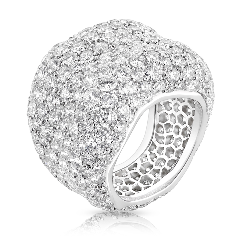 Diamond and White Gold Ring - Fabergé Emotion White Diamond Ring