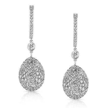 White Diamond Earrings - Fabergé Emotion White Diamond Earrings