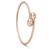 Rose Gold and Diamond I Love you Armreif – Fabergé Simple I Love You Rose Gold Crossover Armreif