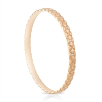 Diamond and Rose Gold Bangle - Fabergé Treillage Diamond Rose Gold Matt Bangle