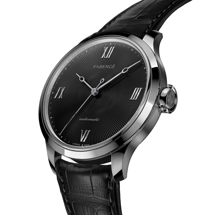 aberge Men's Watch - Fabergé Altruist Black Timepiece