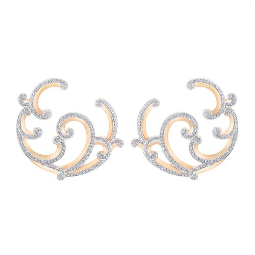 Rose Gold Diamond Earrings I Fabergé