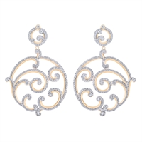 Pavé-Set Diamond & White Gold Earrings | Fabergé